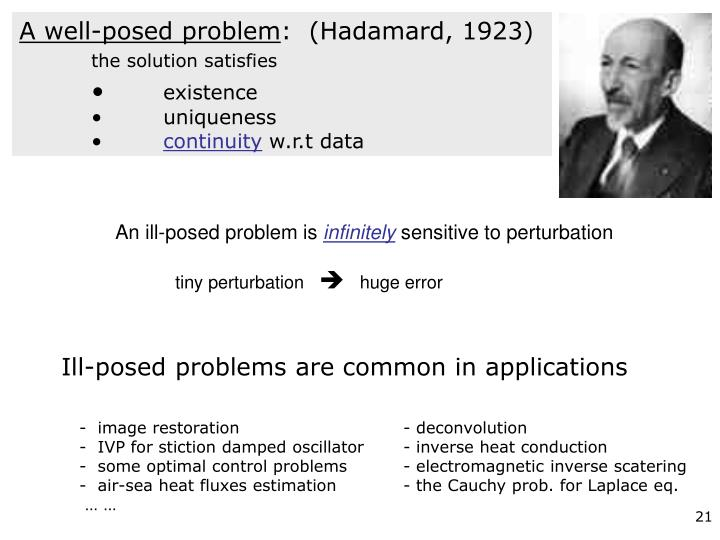 Ill-posed problems are common in applications