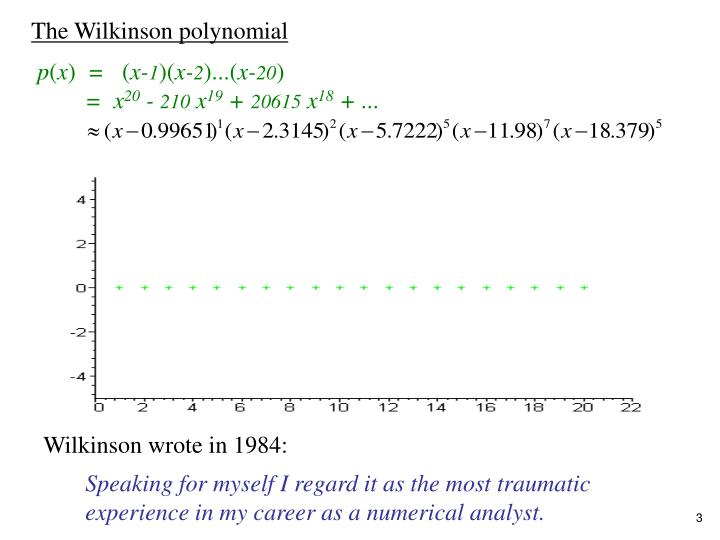 The Wilkinson polynomial