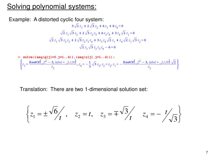 Translation:  There are two 1-dimensional solution set:
