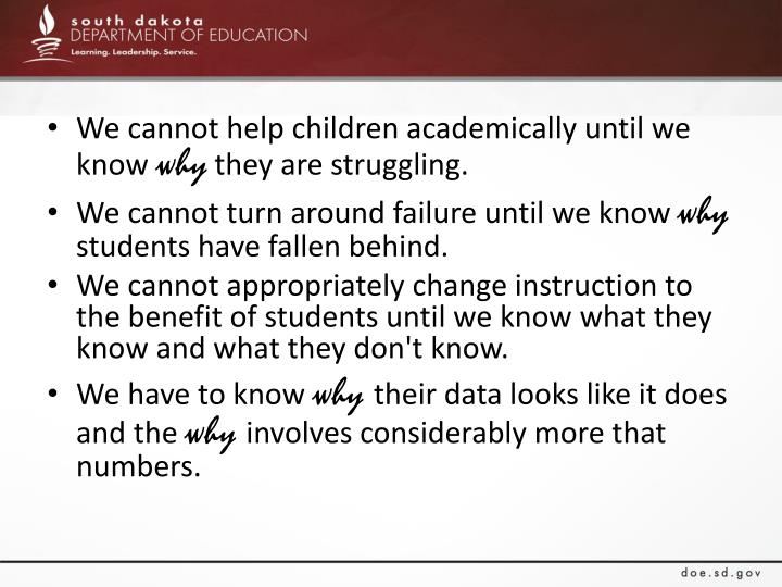 We cannot help children academically until we know