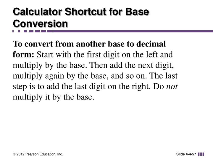 Calculator Shortcut for Base Conversion
