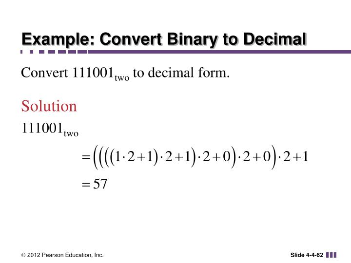 Example: Convert Binary to Decimal