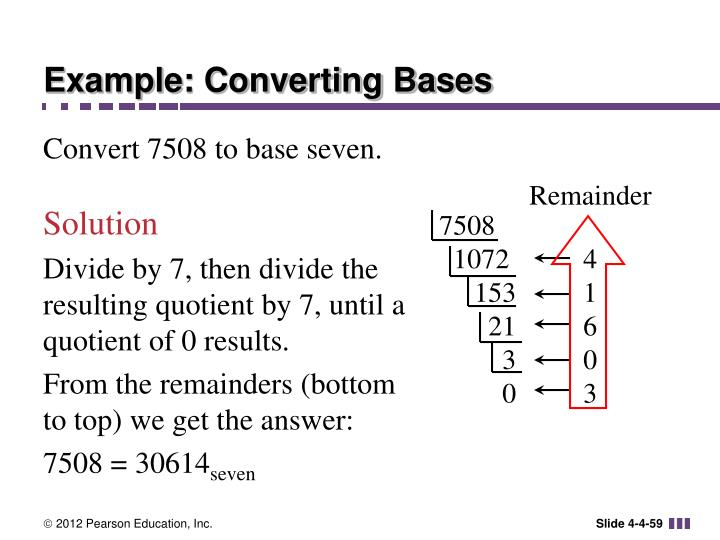 Example: Converting Bases