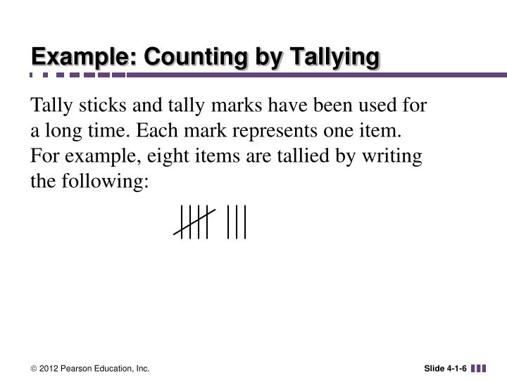 Example: Counting by Tallying