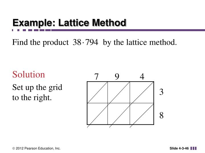 Example: Lattice Method
