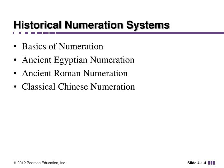 Historical Numeration Systems