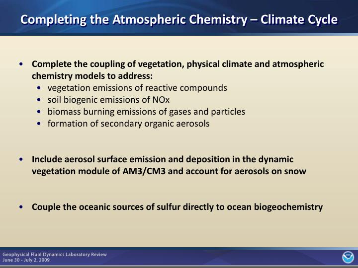 Completing the Atmospheric Chemistry – Climate Cycle