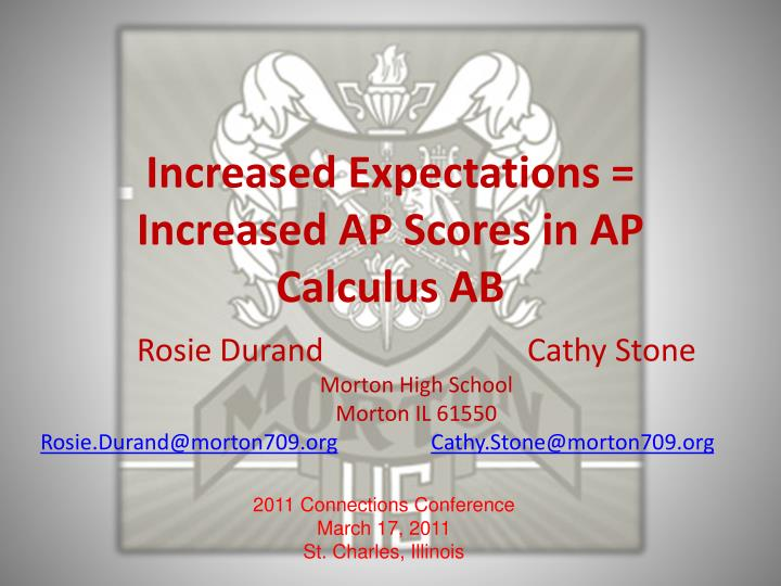 Increased expectations increased ap scores in ap calculus ab