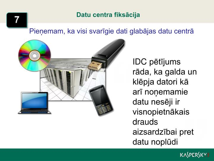 Datu centra fiksācija
