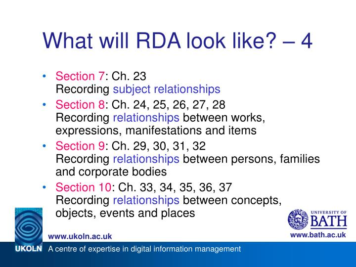 What will RDA look like? – 4