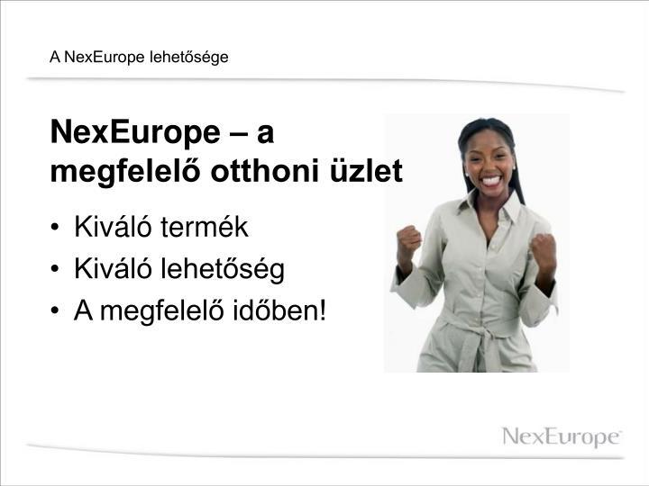 A NexEurope lehetősége