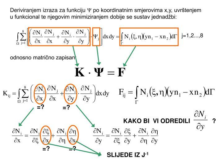 Deriviranjem izraza za funkciju