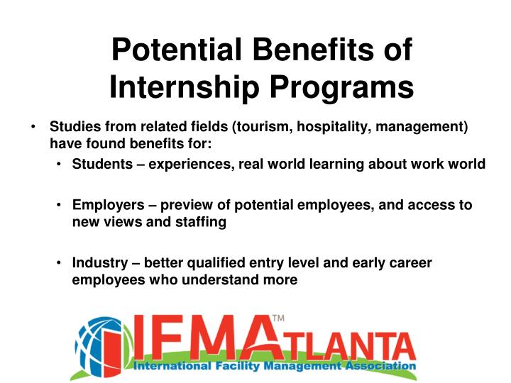 Potential Benefits of Internship Programs