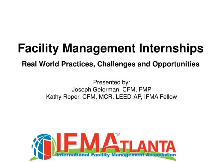 Facility Management Internships