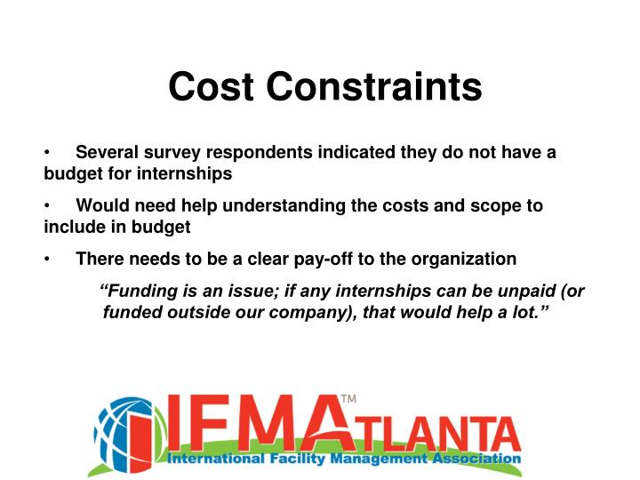 Cost Constraints
