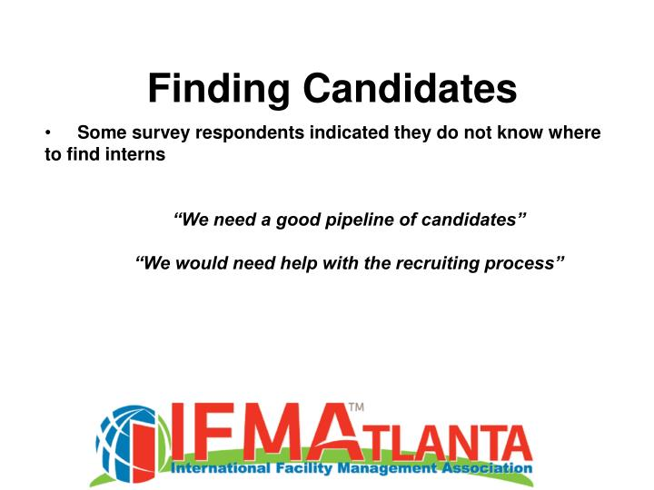 Finding Candidates