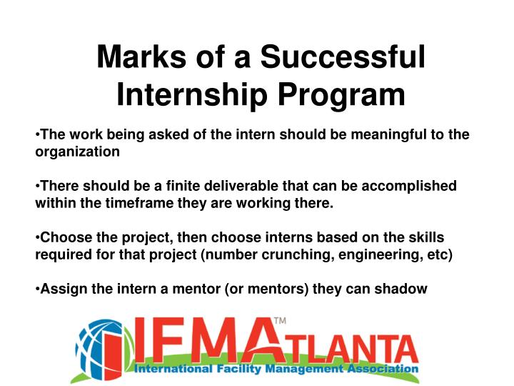 Marks of a Successful Internship Program