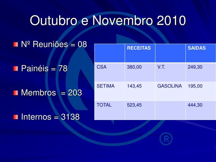 Outubro e Novembro 2010