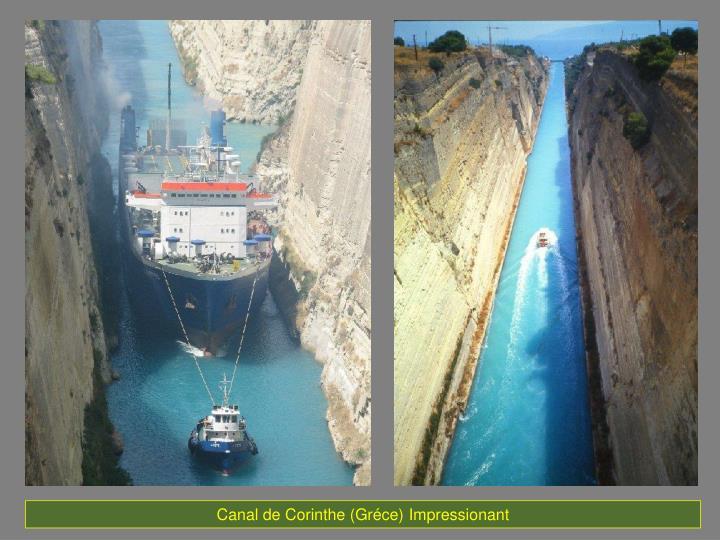 Canal de Corinthe (Gréce)