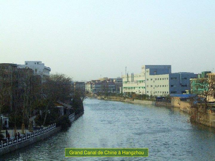 Grand Canal de Chine à