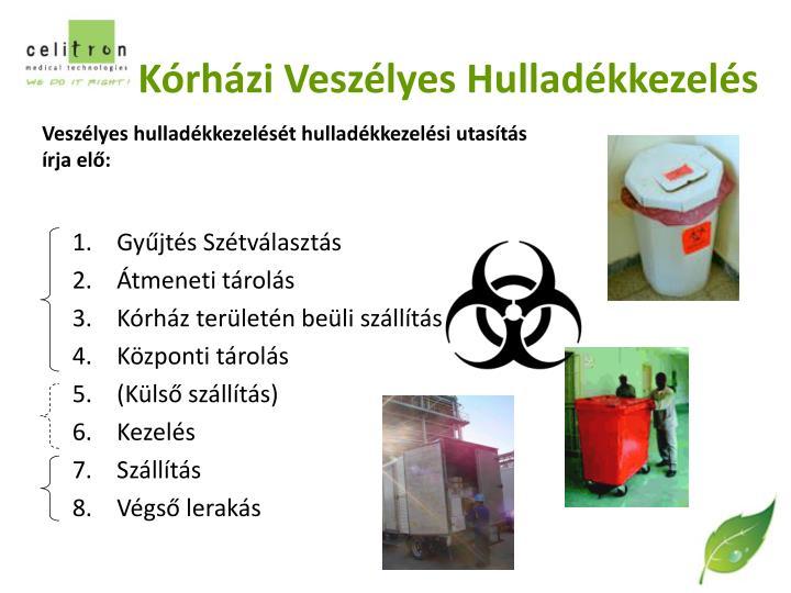 Kórházi Veszélyes Hulladékkezelés