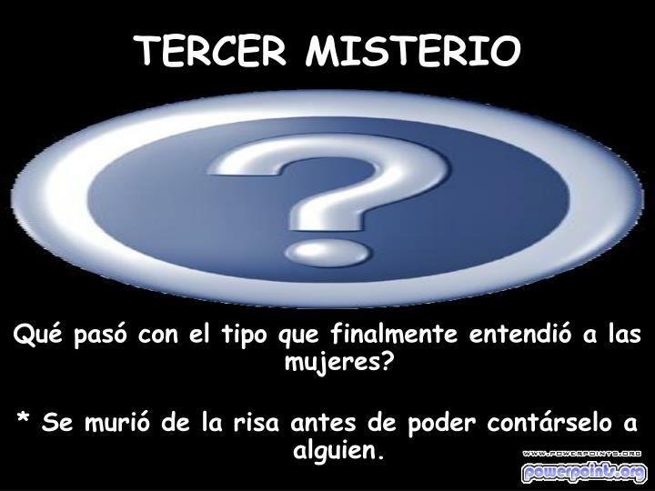 TERCER MISTERIO
