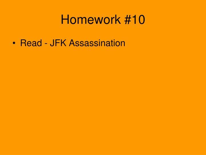 Homework #10