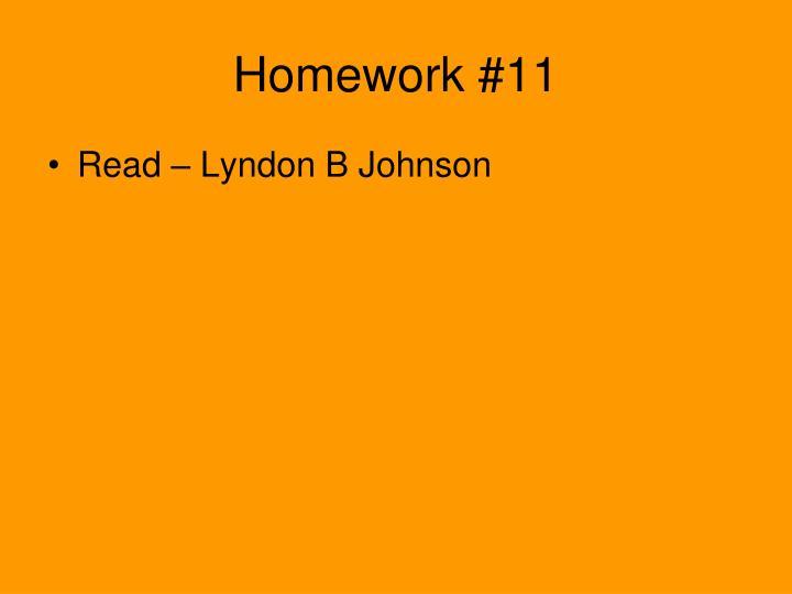 Homework #11
