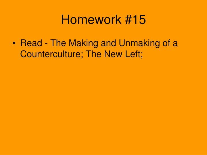 Homework #15