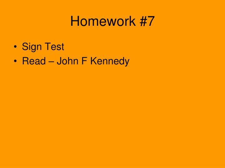 Homework #7