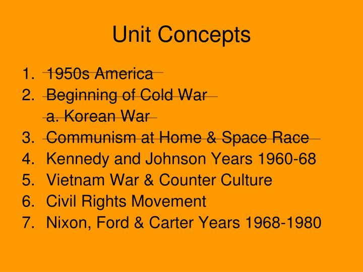 Unit Concepts