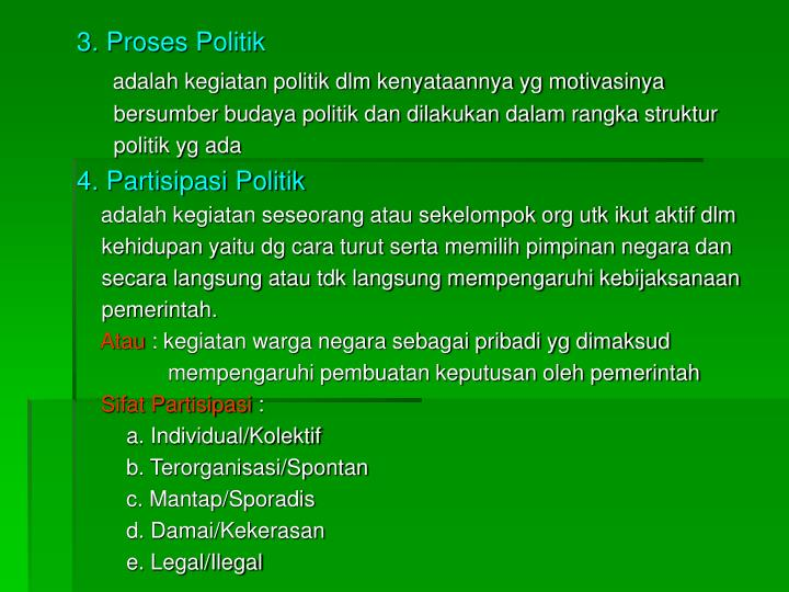 3. Proses Politik