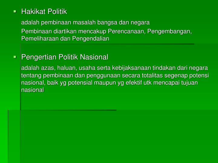 Hakikat Politik