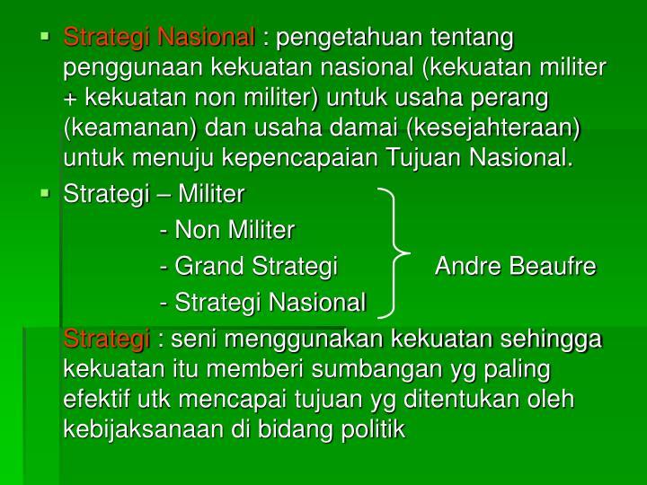 Strategi Nasional