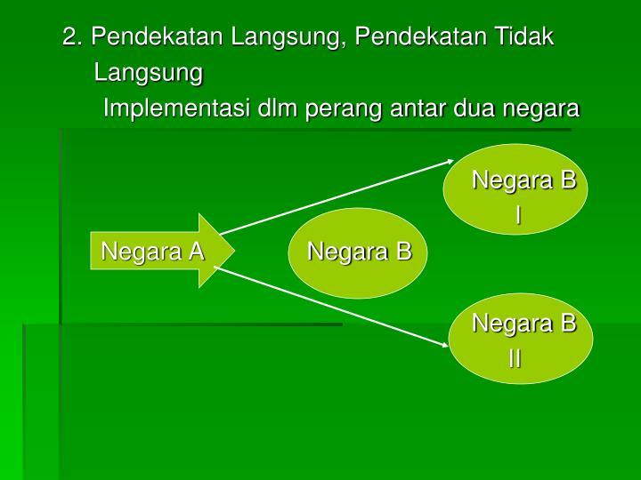 2. Pendekatan Langsung, Pendekatan Tidak