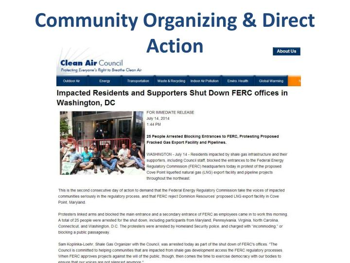 Community Organizing & Direct Action
