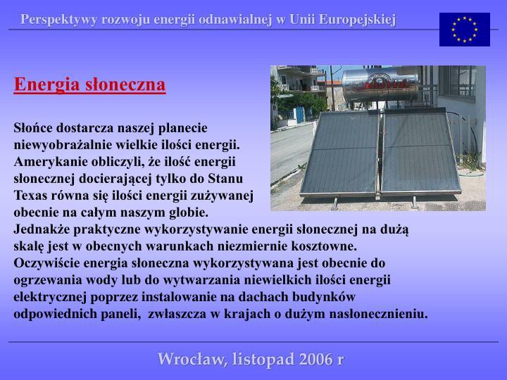 Perspektywy rozwoju energii odnawialnej w Unii Europejskiej