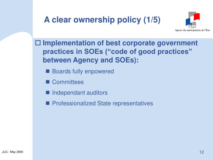 A clear ownership policy (1/5)