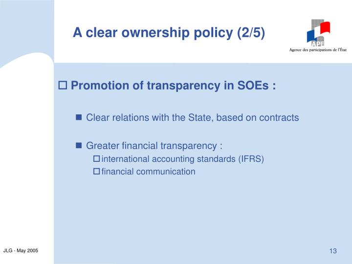 A clear ownership policy (2/5)