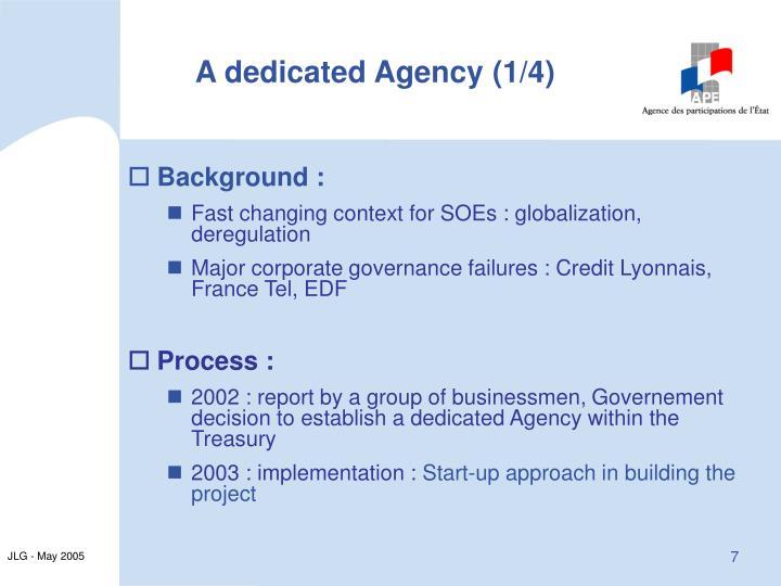A dedicated Agency (1/4)