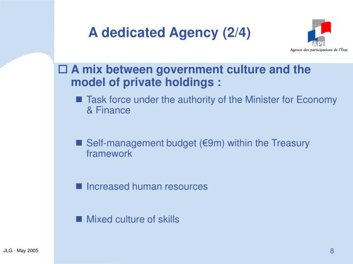 A dedicated Agency (2/4)