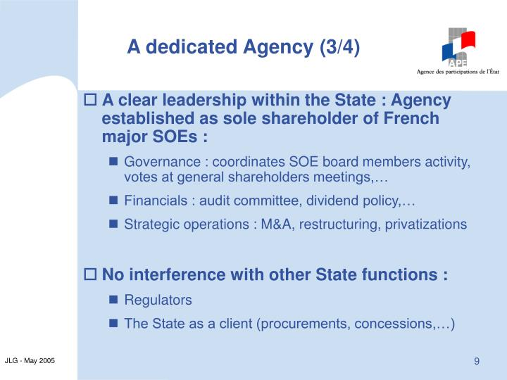 A dedicated Agency (3/4)