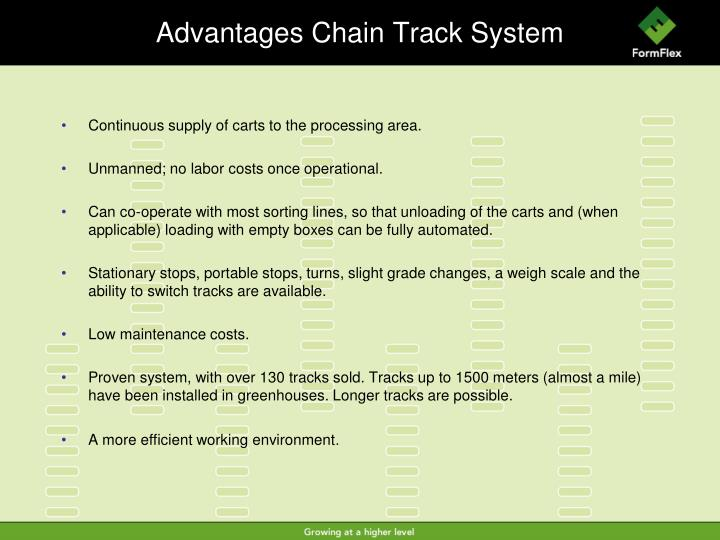 Advantages Chain Track System