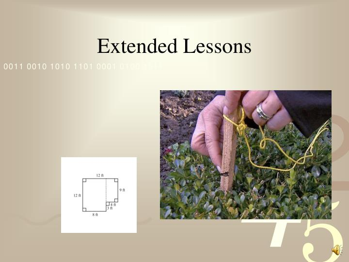 Extended Lessons