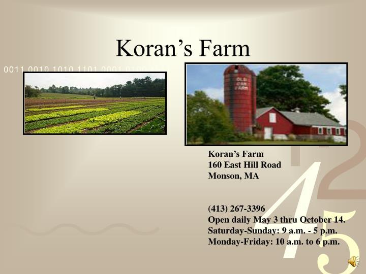 Koran's Farm