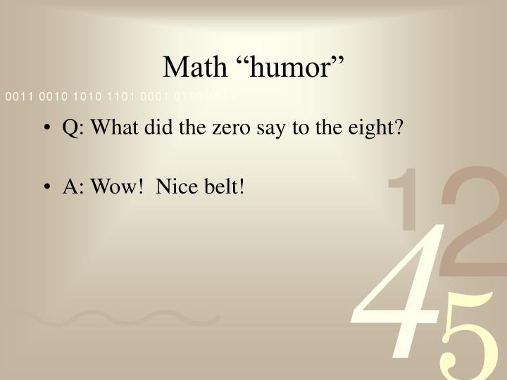 "Math ""humor"""