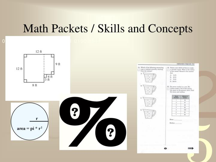 Math Packets / Skills and Concepts