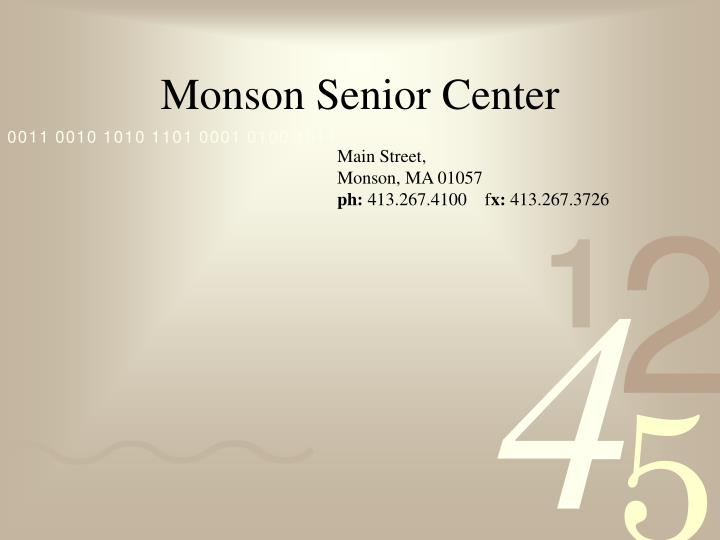 Monson Senior Center