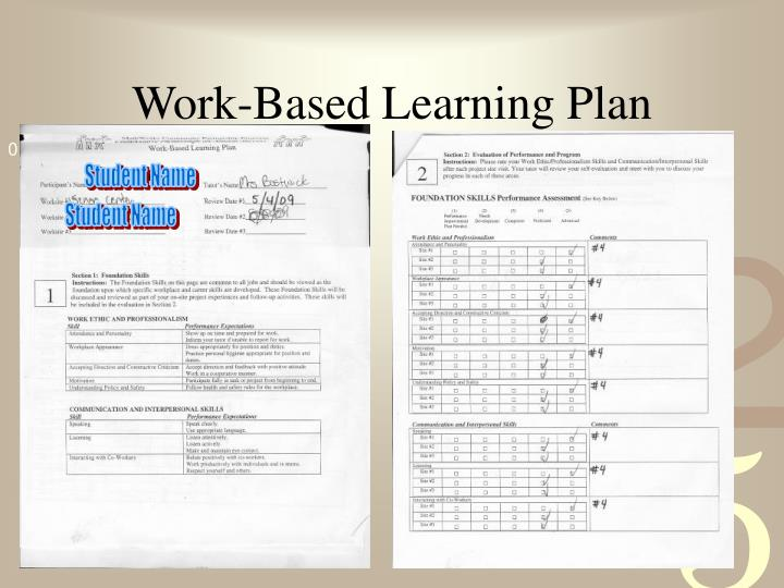 Work-Based Learning Plan