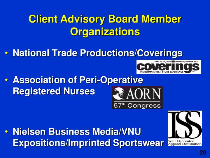 National Trade Productions/Coverings
